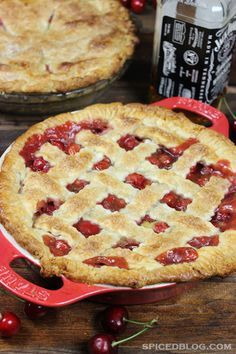 Bourbon Sour Cherry Pie