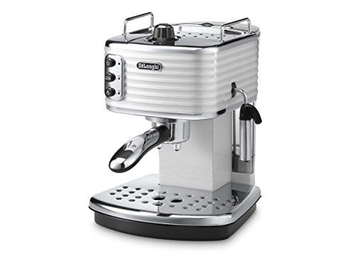 Delonghi Traditional Pump Espresso Coffee Machine, 1100 W, White - ECZ351.W