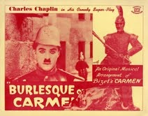 """There are misogynistic messages & jokes in some of Chaplin's earlier work, but none quite as overt as in this one. Near the beginning of the movie, as the band of gypsies are traveling, there is a scene where the mules & women are loading & an inter-title explains that """"the mules are the ones with long ears."""" In case you couldn't tell, I guess.   #burlesque #film #history #CharlieChaplin #BurlesqueOnCarmen   Check out our #NeoBurlesque #documentary #BurlesqueAReemergence #burlesquemovie"""