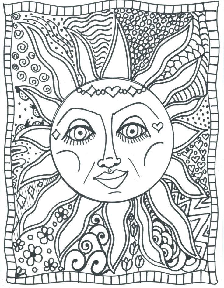 Mermaid Princess coloring page. More original and princess ... |Moon Mermaid Coloring Pages