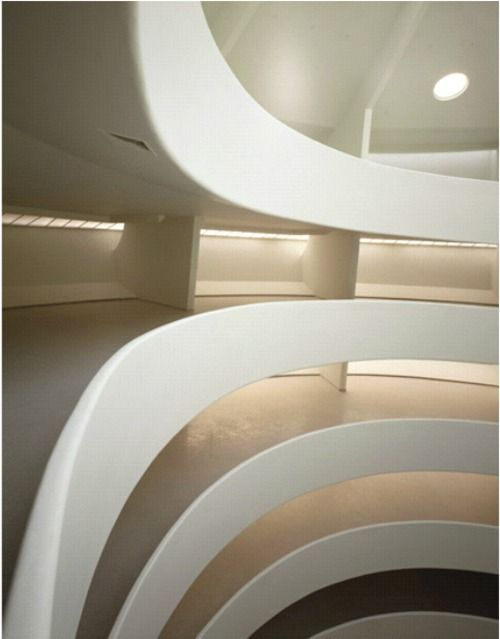 the incredible ramp of the ramp within the Guggenheim Museum in NYC