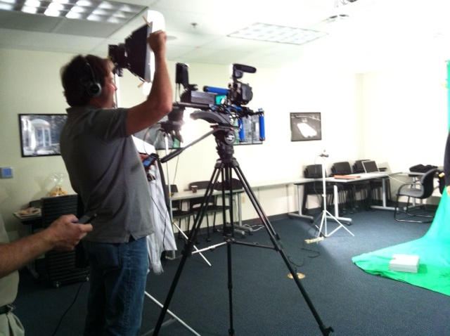 Shooting a spot at Mark Jacobson Toyota in Raleigh-Durham, North Carolina.