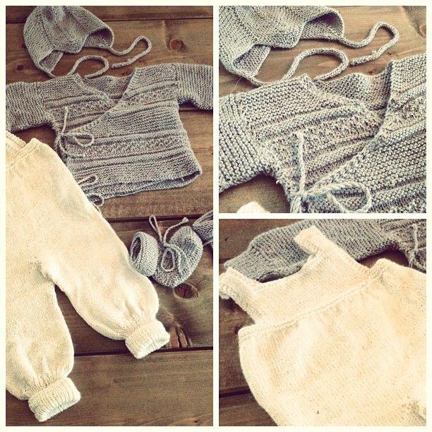 Hentesett / Bringing baby home set, knitted in babyalpaca silk.