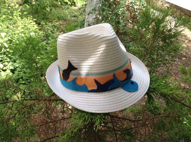 Summer kids hat collection White on wave, fish & sailboat gamzegedesignstudio.com
