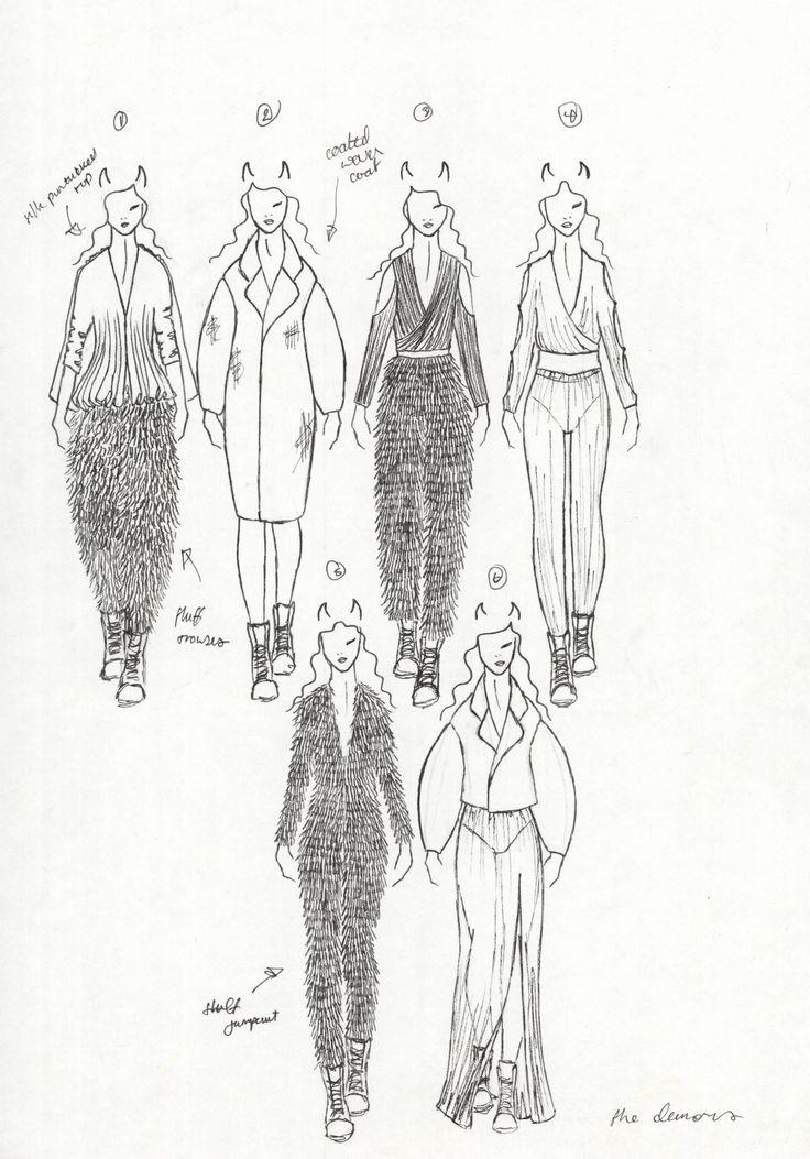Fashion Sketchbook - fashion design sketches; fashion student portfolio // Amy Robinson