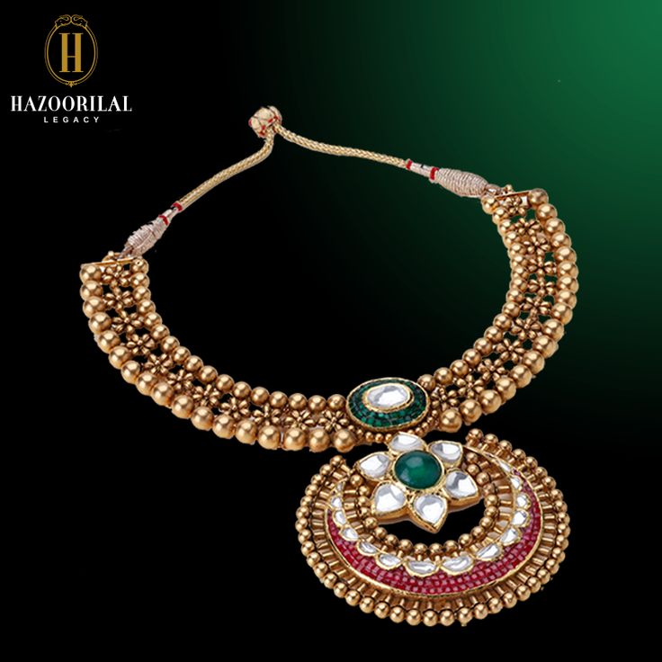 Gold Kundan Polki Necklace