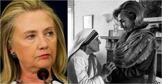 Mother Teresa was made a saint today, and that calls to mind an exchange between the nun and the Democratic nominee for president, Hillary Clinton. In 1994, Mother Teresa addressed a National Prayer Breakfast with bold warnings, where Hillary sat across from her and asked just one question of the nun, and Hillary was left looking like an idiot as she was answered with six simple words.