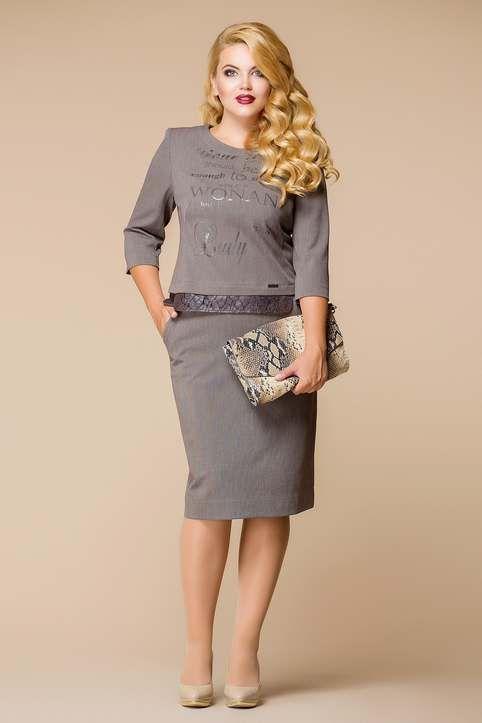 Платья для полных женщин белорусской компании Romanovich Style 2017