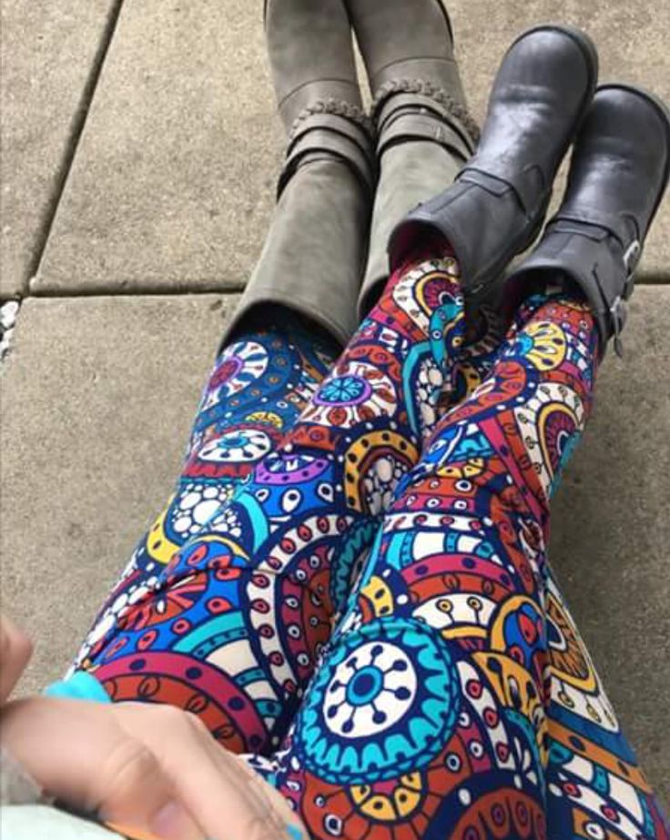 Mommy and me style in LuLaRoe leggings and BOOTS! How cute!!