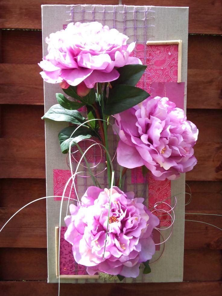 les 37 meilleures images du tableau tableau fleurs artificielles sur pinterest art floral. Black Bedroom Furniture Sets. Home Design Ideas