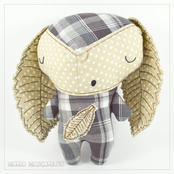 Sleepy Ouriço  stuffed toy for children gray by MariaMascarilha