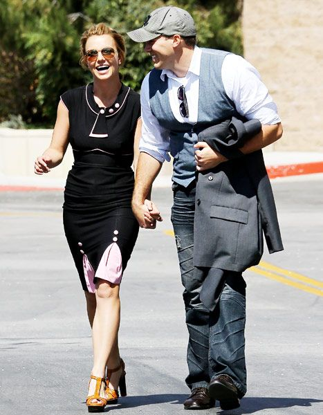 Britney Spears and boyfriend David Lucado in California on March 22, 2013.