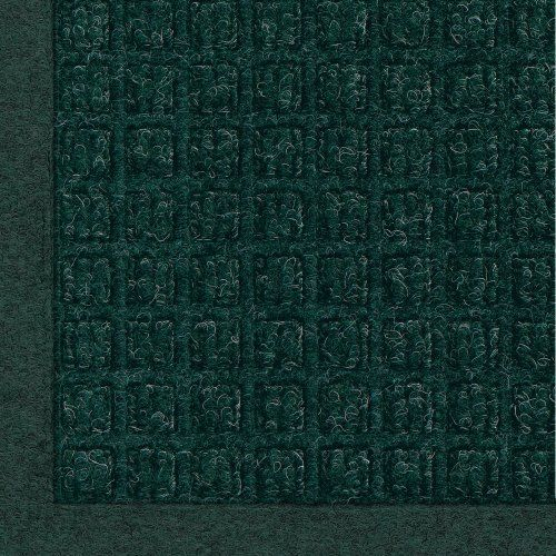 """Andersen 280 Evergreen Polypropylene WaterHog Fashion Entrance Mat, 6' Length x 4' Width, For Indoor/Outdoor by Andersen. $92.55. No other mat in the industry traps water and dirt so effectively. WaterHog mats are constructed of rubber reinforced face nubs and the """"waffle"""" design provides crush proof scraping action. Raised, """"Water Dam"""" borders trap dirt and water keeping floors cleaner and safer. These mats are perfect indoors or out, especially outside your front door. T..."""