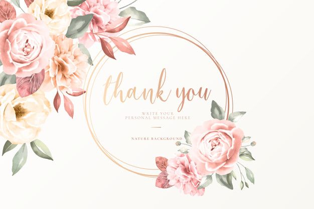 Download Thank You Card With Vintage Flowers For Free Vintage Flowers Pink Invitations Thank You Cards