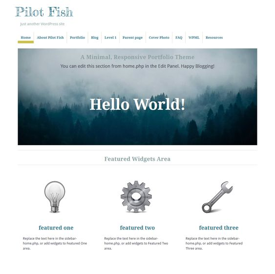 This free portfolio WordPress theme features a clean design, parallax scrolling, a responsive layout, support for custom menus and multiple post formats, a featured image slider, and more.