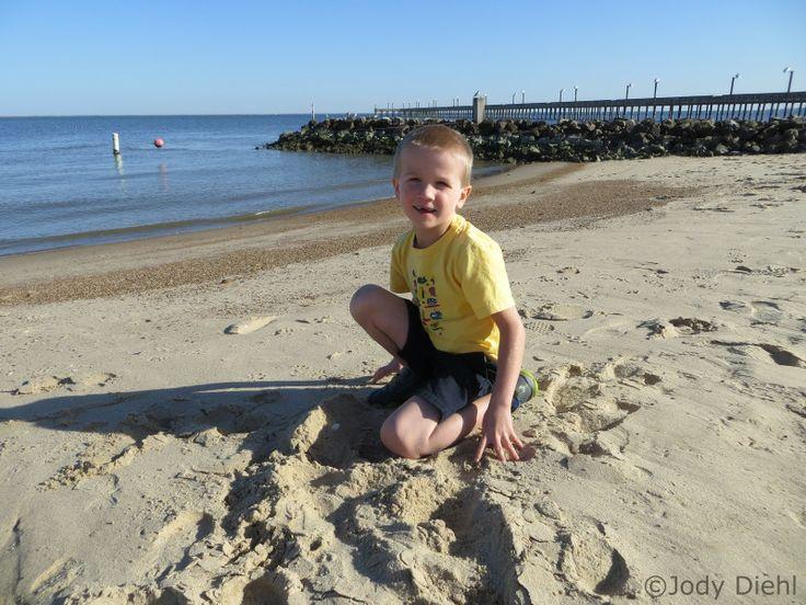Our Birthday Boy at Sylvan Beach Park in La Porte, Texas