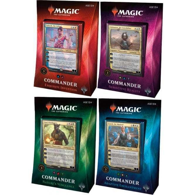Set of 4 Sealed 2018 Magic the Gathering MTG ENGLISH Commander Decks