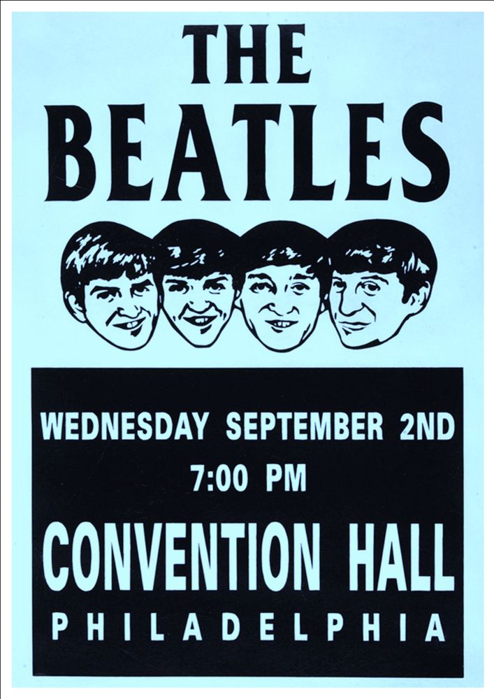 The Beatles Poster Philadelphia Convention Center Concert