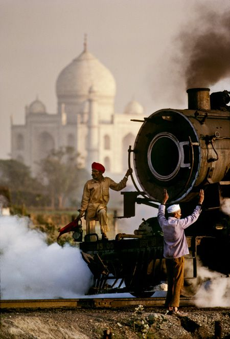 india: Taj Mahal, Incredible India, Travel Tips, Steam Trains, Steam Training, Steve Mccurry, Places, Indian Railway, Photography