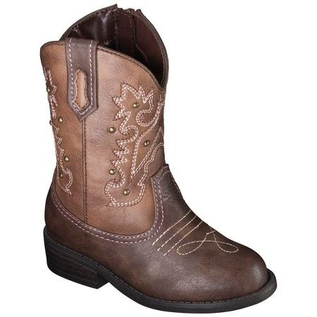 Toddler Girls' Darcy Cowboy Boots Brown - Cherokee® : Target