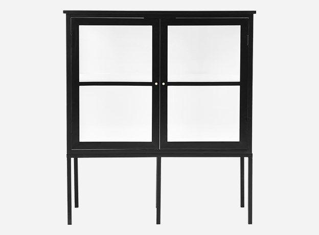 Jf0700 - Kabinet, Fox, Sort, 2 døre, l: 120 cm, b: 40 cm, h: 135 cm