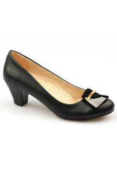Ccway 2125 Önü Taş Toka 5Cm Günlük Bayan Topuklu Ayakkabı