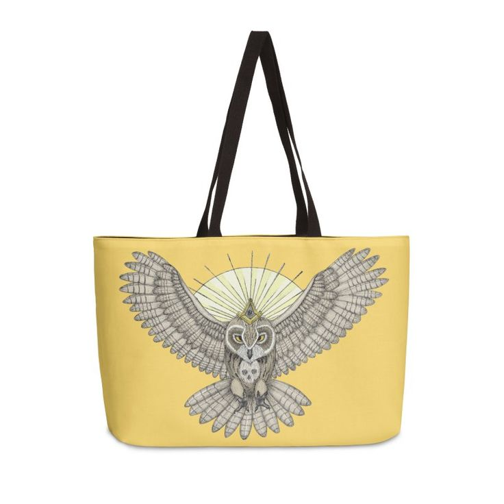 Mason owl (Color version) by #beatrizxe   #threadless #bag #tote #toteBag Tattoo design inspired in masonic secret society. It's an owl with a skull on the chest (formed by white feathers). In the animal's head is placed a compass with a rule and within it there is an eye (the eye that sees everything). #Freemasonry #freemason #freemasone #mason #masonic #owl #animal #skull #feather #compass #rule #eye #halo #ray #golden #ray #tattoo #ink #illustration #artwork #art #drawing #draw…