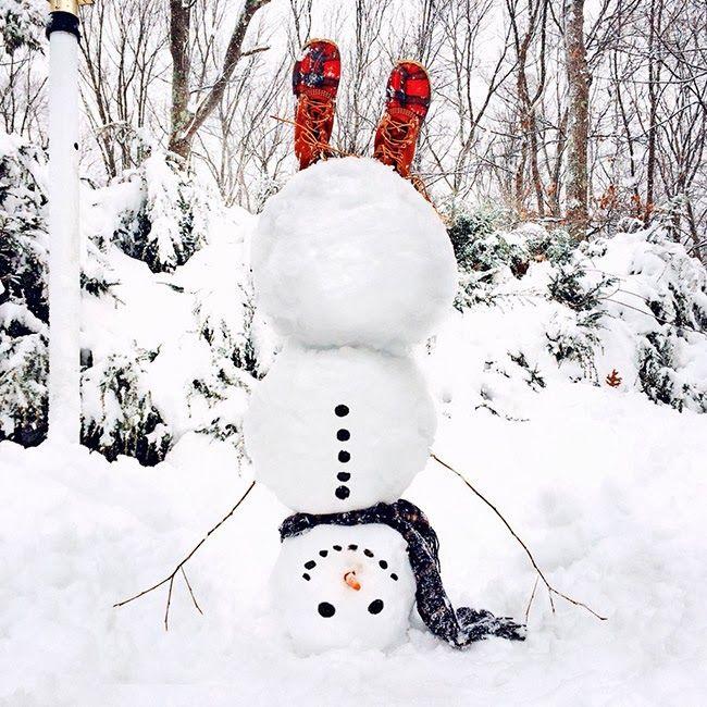 how to make an upside down snowman