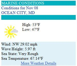 Ocean City MD Weather Forecast for Saturday, Nov 8, 2014 - Is the Polar Invasion coming?! #ocmd