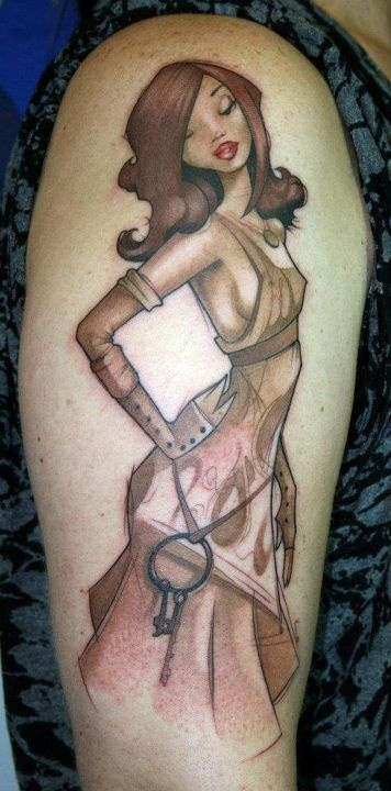 Steampunk Lady Tattoo inspired by the work of Kato of Steam Punk Couture. *****