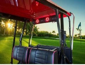 Golf Cart Speaker - Bluetooth marine grade speakers and lighting system.