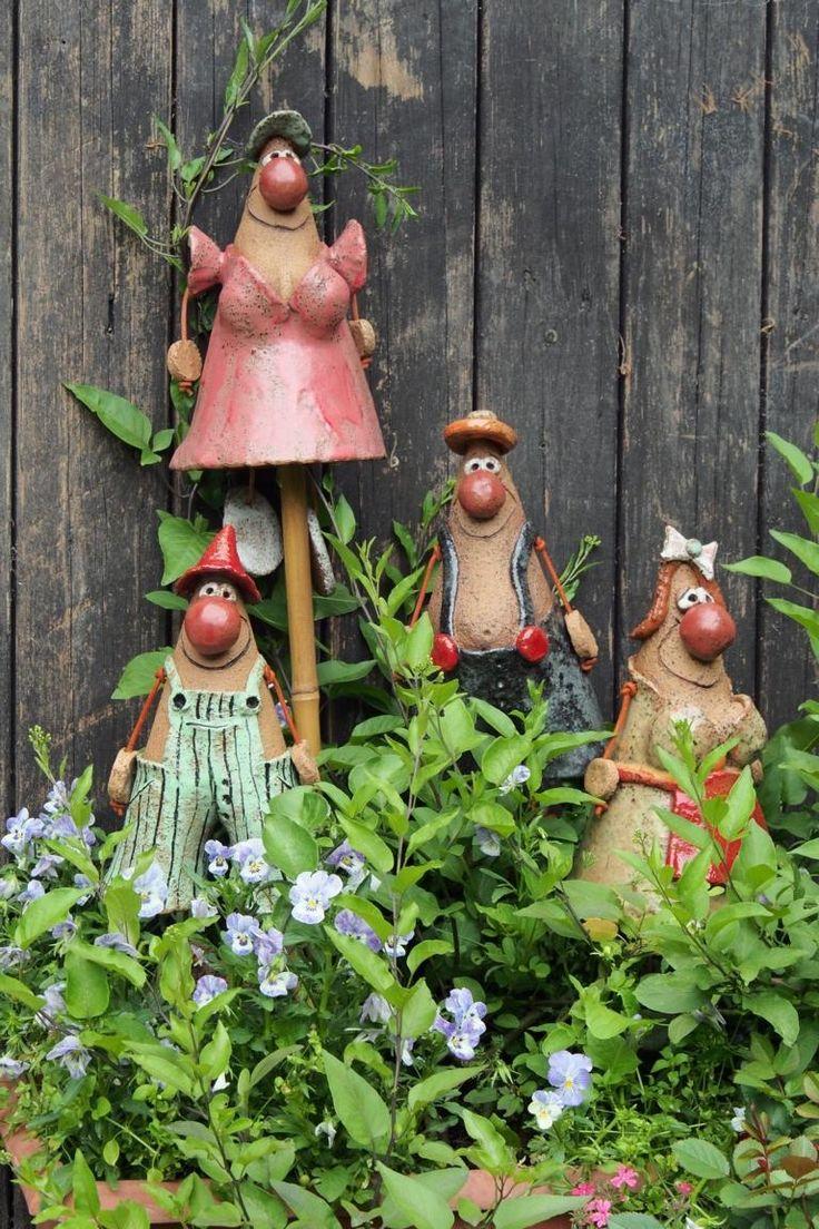 183 besten gartenfiguren aus ton bilder auf pinterest for Gartenfiguren aus keramik