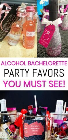 Alcohol Bachelorette Party Favors! Get the best Alcohol Bachelorette Party Favor Ideas! Choose from DIY ideas, cool products, hangover kits, alcohol and more. Pick from alcohol, liquor, wine, champagne, vodka and more. Great ideas for bridal showers, bachelorette parties & more. Any bride, maid of honor, bridesmaids will love these.