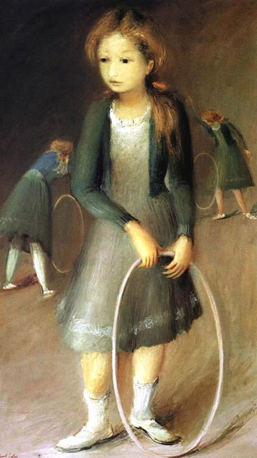 """Sarita"" - Raúl Soldi (Buenos Aires, 1905-1994)  Oleo (Oil colors on canvas)  70x123cm. (29,13""x48,42"")  Año 1947    http://www.all-sa.com/ArtistaRaulSoldi.htm"