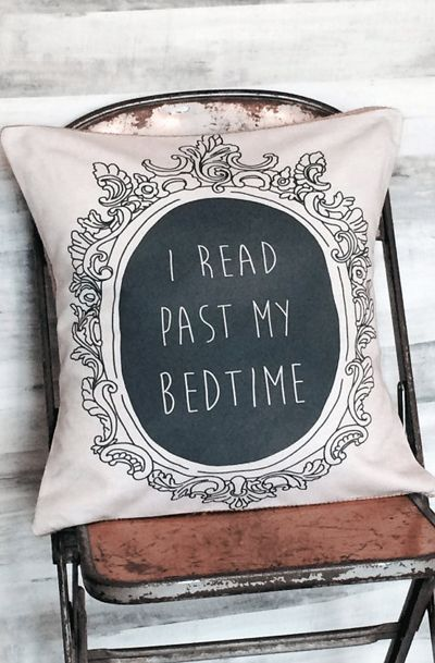 Pillow Cover Book Lover I Read Past My Bedtime