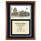San Jose State University California Diploma Frame with SJSU Art PrintBy Old School Diploma Frame Co.