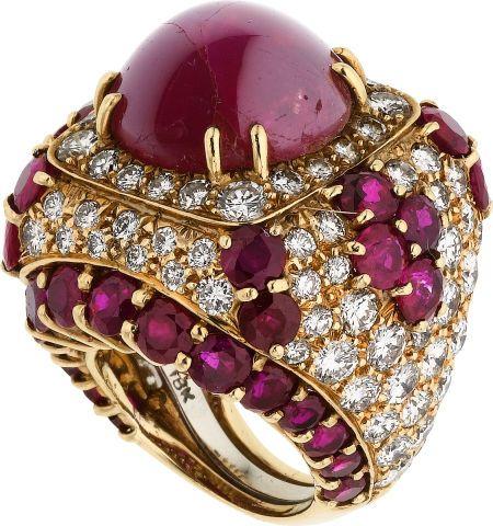 Star Ruby, Ruby, Diamond, Gold Ring, David Webb