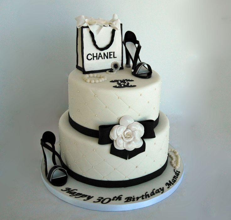 Chanel Theme Fondant Birthday Cake With Gumpaste Shoes