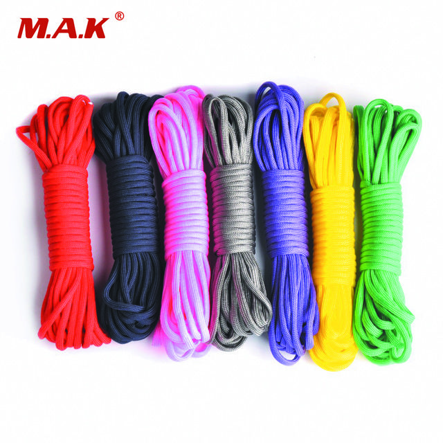 6 Colors 25 50 100ft Paracord 550 Parachute Cord Lanyard Rope Mil