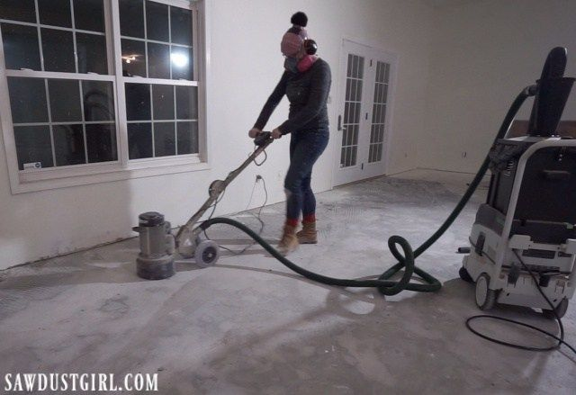 Removing Tile And Thinset From Concrete Concrete Floors Diy Concrete Tile Floor Concreate Floors