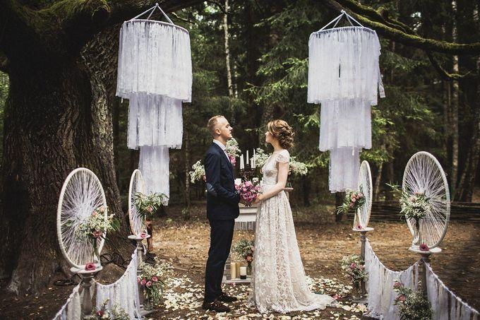 Необычное оформление свадьбы в стиле Бохо-рустик