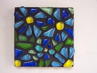 mosaics for kidsMosaics Art, Glitter Shard, For Kids, Mosaics Stones, Blue Flower, Mosaic Tiles, Mosaics Tile, Stained Glasses, Hanging Mosaics