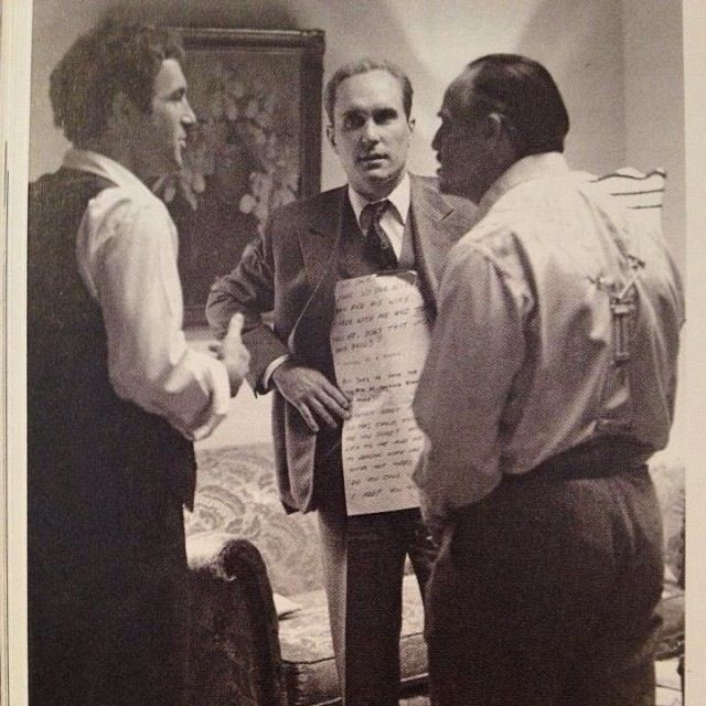Brando Reading His Lines Off Duvall In THE GODFATHER