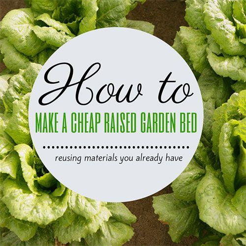 17 best ideas about Cheap Raised Garden Beds on Pinterest Diy