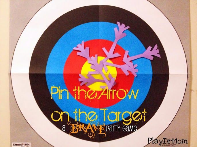 Pin the Arrow on the Target: a Brave party game