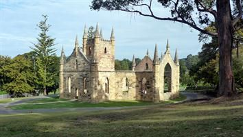 This Australian Convict Church at Port Arthur was never consecrated