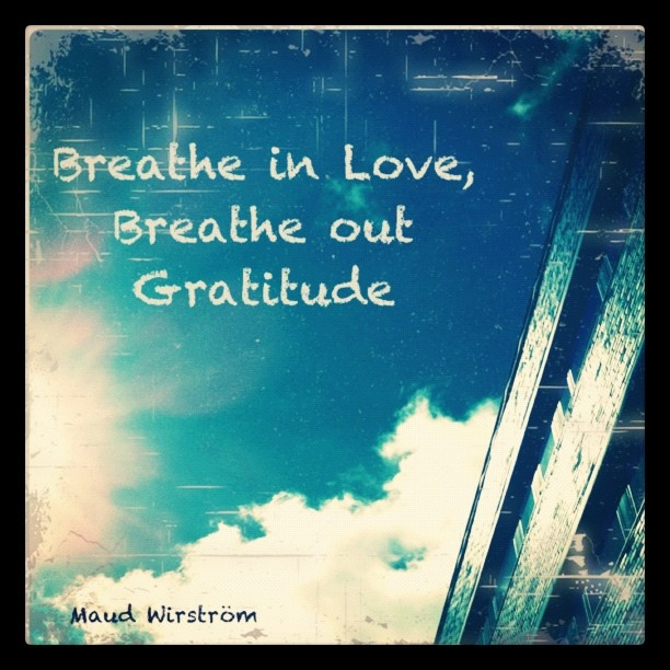 Breathe in Love, Breathe out Gratitude