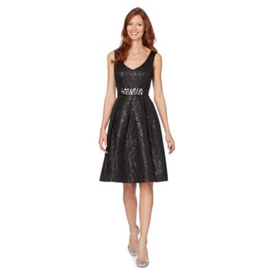 No. 1 Jenny Packham Designer black jacquard prom occasion dress- at Debenhams.ie