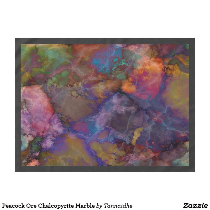 Peacock Ore Chalcopyrite Marble Tablecloth