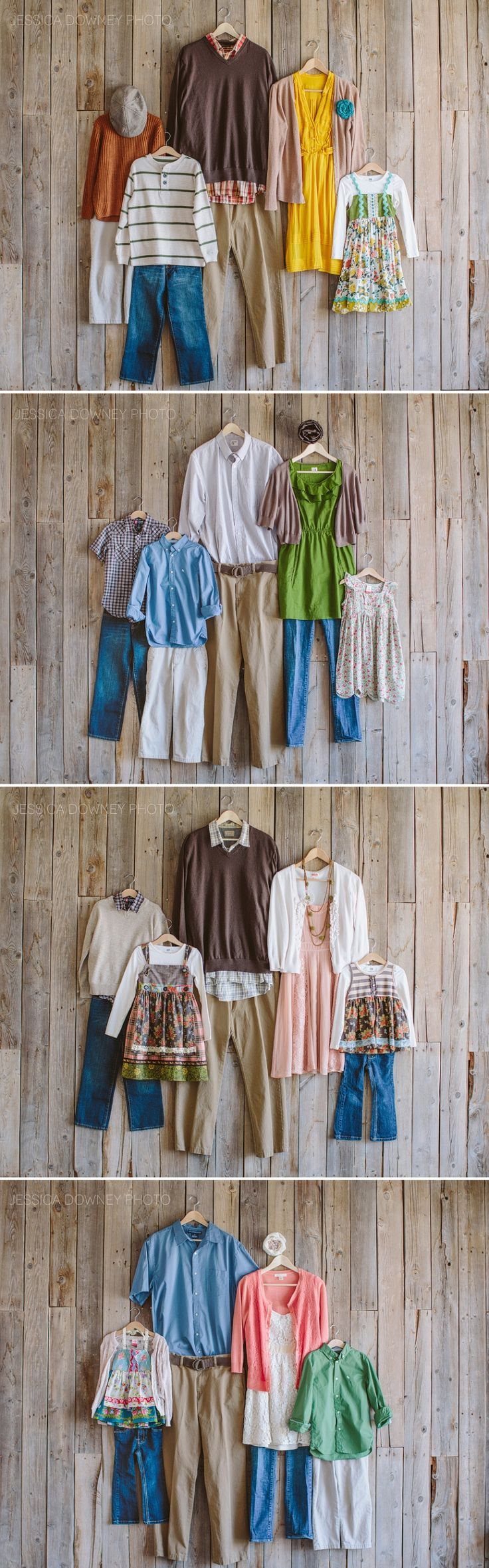 What to Wear - Family groupings